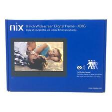 Nixplay Advance 8 Inch Widescreen Hi-Res Digital Photo & HD Video Frame X08G