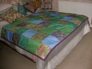 New Handmade Patchwork Bed Cover or Throw
