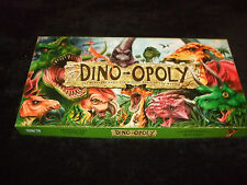 DINO-OPOLY - RARE MONOPOLY FAMILY BOARD GAME - MADE BY LATE FOR THE SKY
