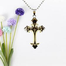 WOMEN MEN Plated Gold Filled Jesus Cross Crucifix Pendant Necklace Fashion Gifts