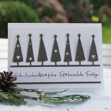 Stanzschablone Weihnachten Baum Kante Hochzeit Geburtstag Album Karte Foto Deko
