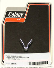 Harley 49-64 BT Timer Cable Clamp OEM 9957 Cadmium Plated Colony 2586-1