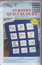 """1 Jack Dempsey  """"Puppies""""  Stamped Embroidery Nursery Quilt Blocks"""