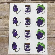Vintage Rare Ctp Matte Scratch & Sniff Stickers Full Sheet Grape Jelly Grapes N