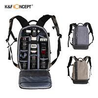K&F Concept Waterproof DSLR SLR Camera Backpack Bag Case for Canon Nikon Sony