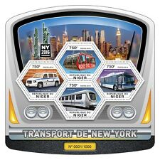 Niger 2016 MNH New York Transport NY2016 4v M/S Trains Taxi Architecture Stamps