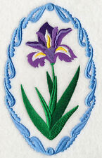 Flower Cameo - Iris NEW SET OF 2 BATH HAND TOWELS EMBROIDERED BY LAURA