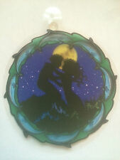 SHADOW MAGIC HANGING WINDOW PRINT-MERMAID / MOON -Festival / New Age / Mythical