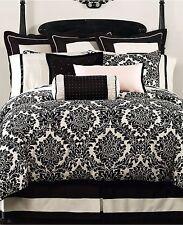 "Warerford Lisette 18"" Square Decorative Pillow BLACK Bedding Retail $88 D3029"