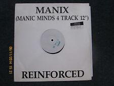 "Manix Manic Minds 12"" Promo Reinforced Records 1991"
