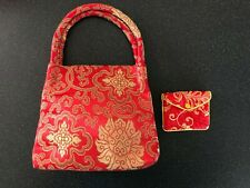 Red and Gold Oriental Style Bag and Purse