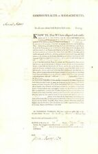 SAMUEL ADAMS autographed large document as Governor 1796 US FOUNDING FATHER