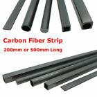 200/500mm Carbon Fiber Strip Solid Rod Shaft Square Tube Flat Bar Fr RC Airplane