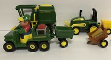 John Deere Tractor Play Set With Farmer