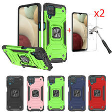 For Samsung A12 A21 A22 A32 A42 A52 5G Magnetic Ring Stand Case+Screen Protector