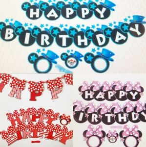 3 Meter Kids birthday party flag Bunting banner decoration Theme UK Micky Minnie