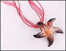 PENDENTIF COLLIER VERRE façon MURANO forme étoile  de mer