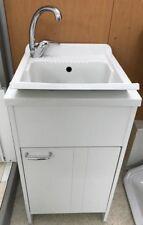 Lavatoio lavapanni in resina CON MISCELATORE CROMATO pilozza lavanderia 45 X 50