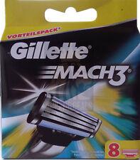 8 Gillette Mach 3 Rasierklingen Mach3 Klingen Originalverpackt Neuware