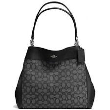 SALE Bnwt 💯% Authentic Coach Lexy Black Smoke Hobo Tote Shoulder Bag