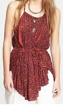 Free People Open Back Long Tunic Top. M