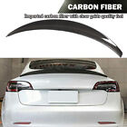 Fit for Tesla Model 3 2017-2020 Rear Trunk Spoiler Boot Wing Refit Carbon Fiber
