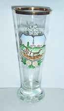 Schönes Andenken Glas mit Emaillemalerei um 1910 - 1920 Landwirtschaft Bauer !