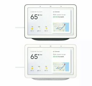 Google Home Nest Hub 7'' with Built-In Google Smart Assistant Chalk Charcoal New