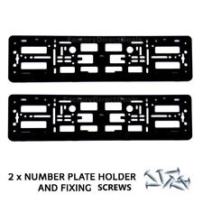 2x NUMERO TARGA CIRCONDA Holder Frame per il tuning Autohaus AUDI VW + gratis di fissaggio