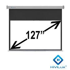 """HiViLux a Rullo-Tela 127"""" 16:9 280x158cm 3d/2d/Full HD/Gain = 1,2/Fast Forward 50cm"""