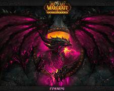 """World Of Warcraft Cataclysm Home Poster Art Silk Fabric 28x24"""" Decor 13"""