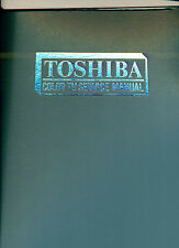 Toshiba Color TV Service Manual [TAB 760], 1975, with fold-out schematics