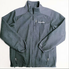 Columbia Jacket coat Omnishield Softshell Mens Medium Fleece Lined hikeing gray