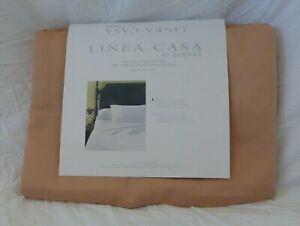 3 pc Linea Casa by Sferra 300 TC Egyptian Cotton Mauve Twin Sheet Set NIP