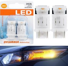 Sylvania LED Light 3157 Amber Orange Two Bulbs Rear Turn Signal Replace Lamp Fit