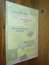 As you GRADUATE from Mom and Dad with Love Graduation greeting Card * G37