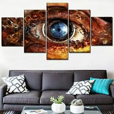 Steampunk Abstract Eye Sci Fi 5 Panel Canvas Print Poster Wall Art Home Decor