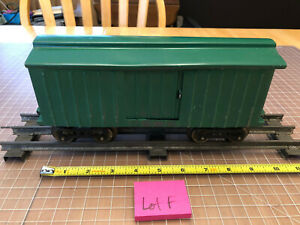 """Lionel Lines Train Standard Scale 98237 GREEN Painted Box Car 9.5"""" Long Lot F"""