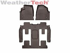 WeatherTech Car FloorLiner for Traverse/Acadia/Enclave- 1st/2nd/3rd Row - Cocoa