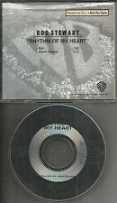 ROD STEWART Rhythm of My Heart w/ RARE EDIT 1991 USA PROMO DJ CD single MINT