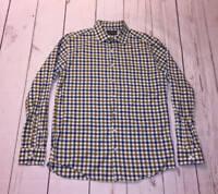 Mens Rodd & Gunn Blue Brown Plaid Check Long Sleeve Shirt Size Large