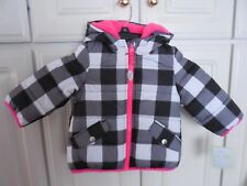 Carters Winter Jacket,  Girls Size 12 Mos,  Black & White...