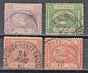 EGYPT, 1867, 2ND Issued Penasson Issue: 4x Stamps Fine Used