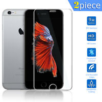 iPhone 5 5S 5C SE 6 6S+ Plus 9H Clear Tempered Glass Screen Protector Film Guard