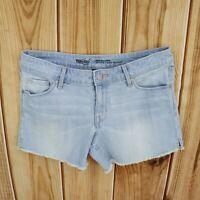 Mossimo Jean Shorts Cut Off Womens Sz 6/28 Light Blue Faded Cotton Blend Denim