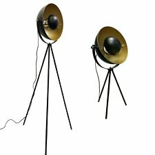 Retro Black and Gold Dome Tripod Table Light Floor Lamps Industrial Design