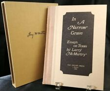 Larry McMurtry IN A NARROW GRAVE SIGNED Ltd First Edition 100/250 Slipcase 1968