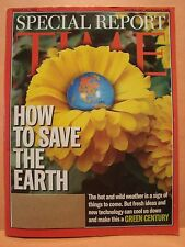 TIME MAGAZINE AUGUST 26 2002 HOW TO SAVE THE EARTH SPECIAL REPORT 8 26 2002