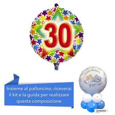 CENTROTAVOLA 30 ANNI Mylar con base palloncini, Addobbi Festa 30° compleanno
