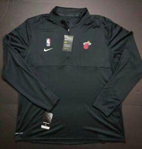 Nike NBA Miami Heat Dri-Fit Performance Half Zip Pullover Jacket AV1751-010